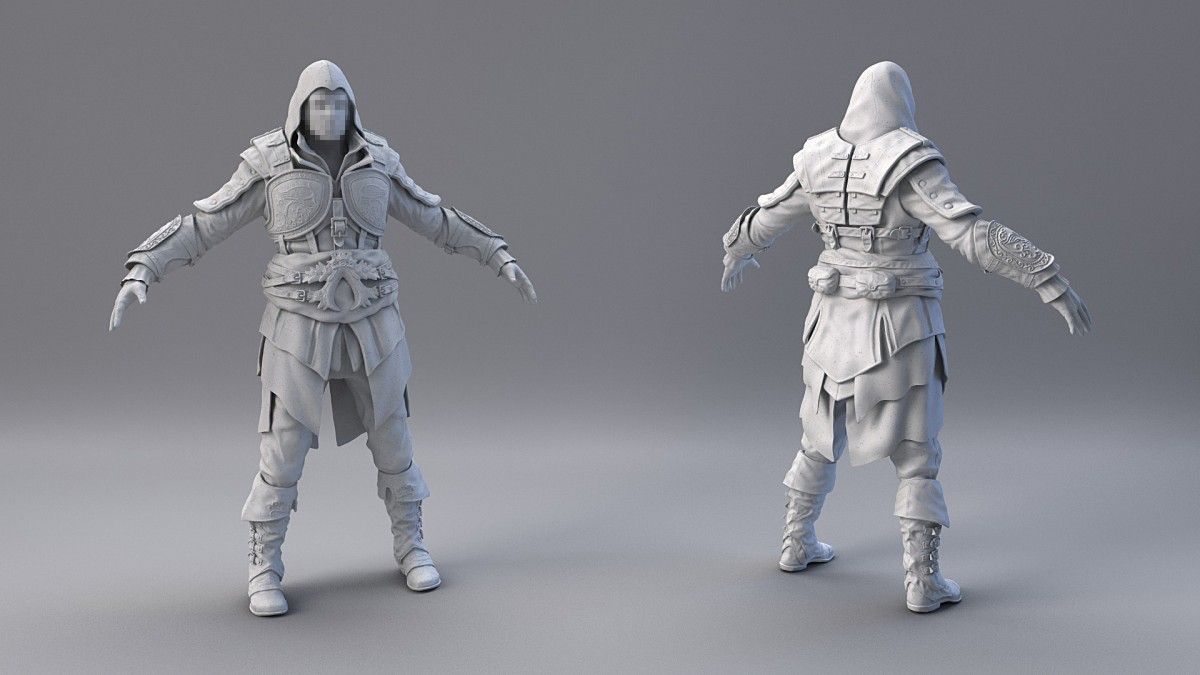 Blender Character Modeling 10 Of 10 : Beat reichenbach assassin s creed wip