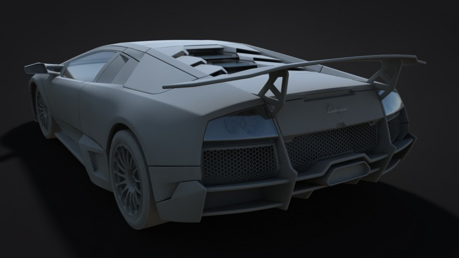 Lamborghini Clay Back