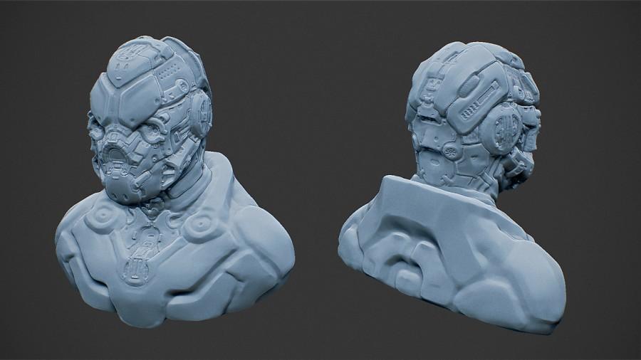Mecha Head Concept